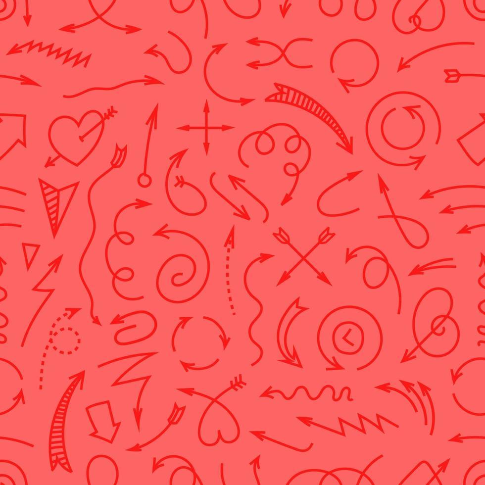 olika enkla pilar röd sömlös bakgrund vektor