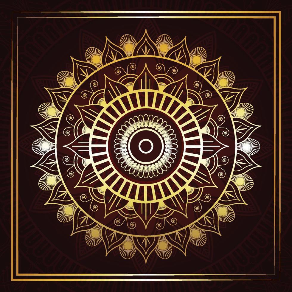 islamisk gyllene lyx mandala bakgrund vektor