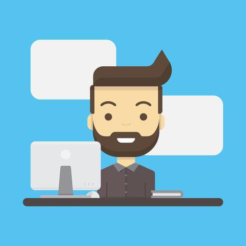 Männliche Kundendienst-Charakter-Illustration vektor