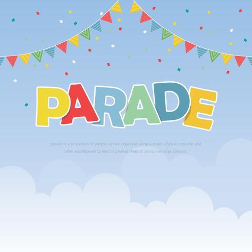 Parade Illustrationsmall. Färgglada Parade. vektor