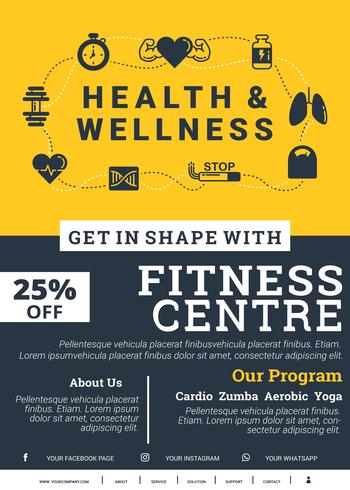 Gesundheit und Wellness-Broschüre vektor