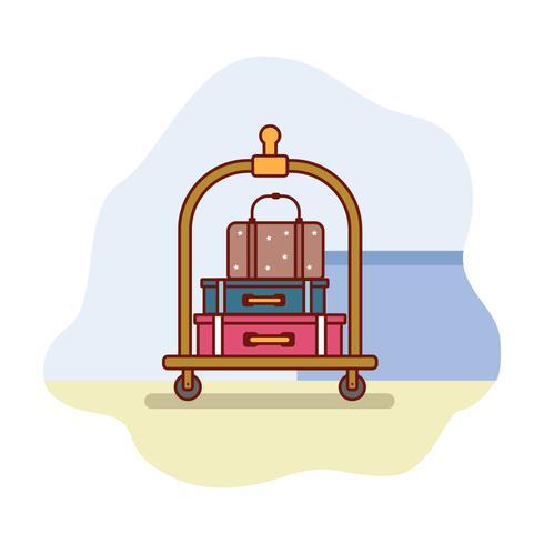 Gepäckwagen-Illustration vektor