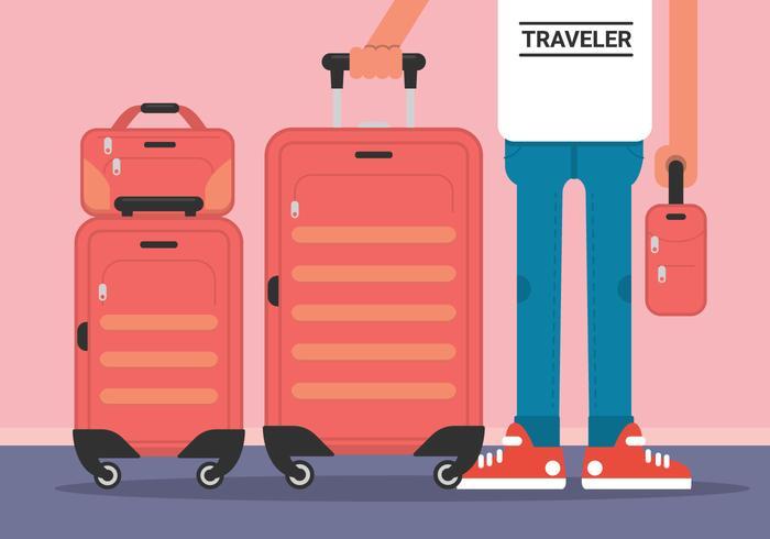 Gepäck-Vektor-Illustration vektor