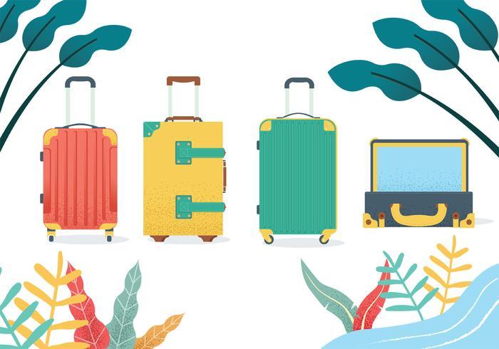 Gepäck-Vektor-Paket vektor