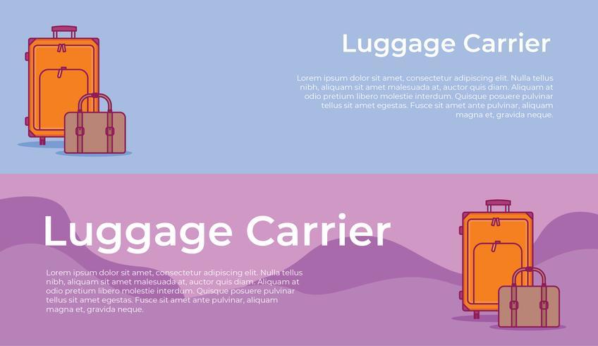 Gepäckträger Banner vektor