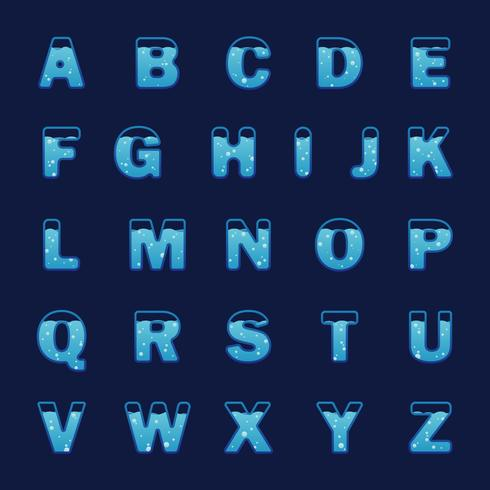 Vatten alfabetvektor vektor
