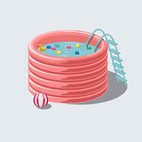 Pool Inflatables-Vektor-Illustration vektor