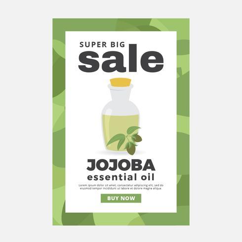 Jojoba ätherische Öle Verkauf Poster Vektor