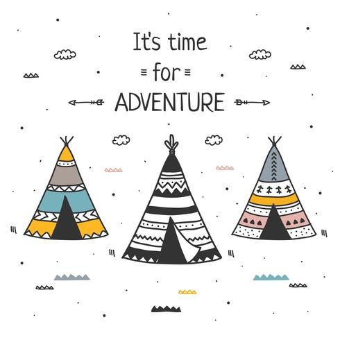 Zeit für Abenteuer Vektor