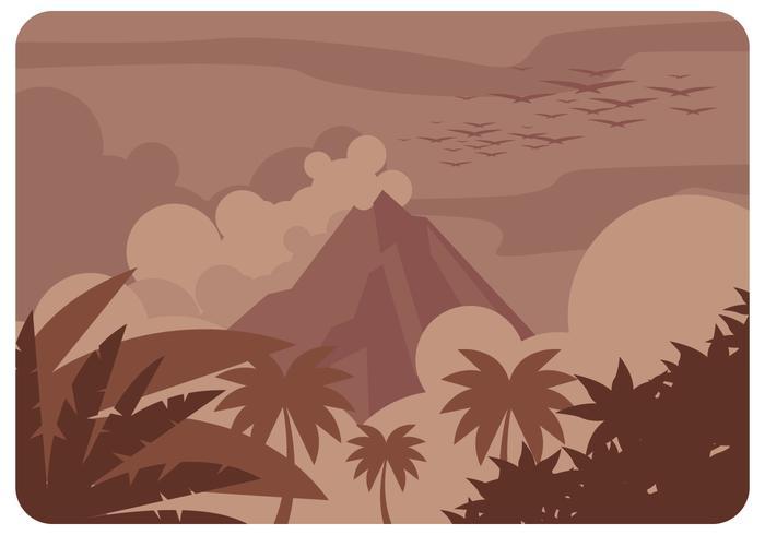 Vulkan Eruption Vektor
