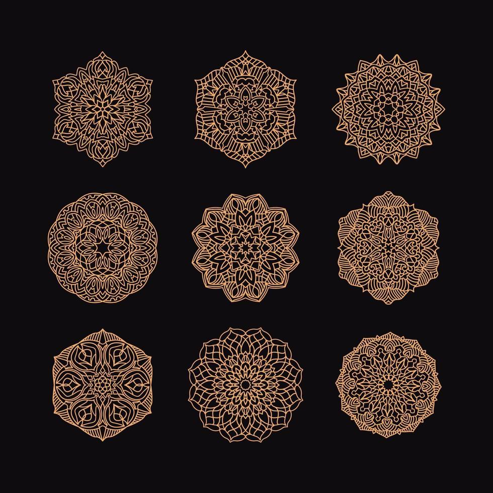 mandala samling vektor illustration