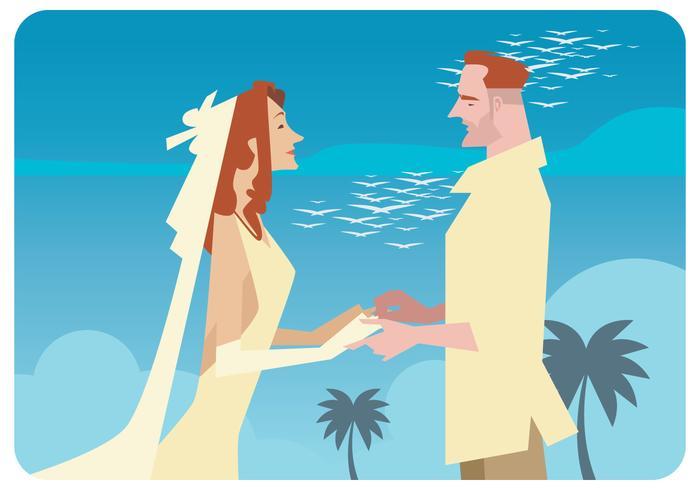 Romantischer Bräutigam Vektor