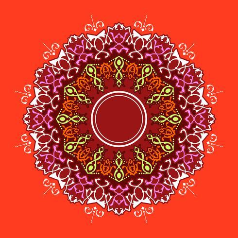 Verzierungs-roter Hintergrund-Vektor der Mandala-dekorativen Verzierungen vektor