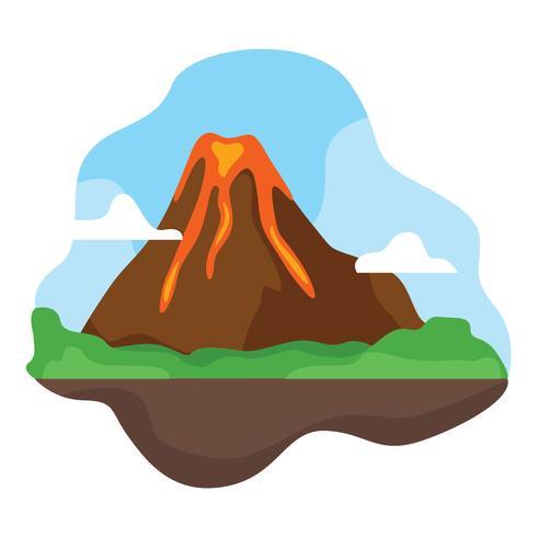 Vulkan-Vektor-Illustration vektor