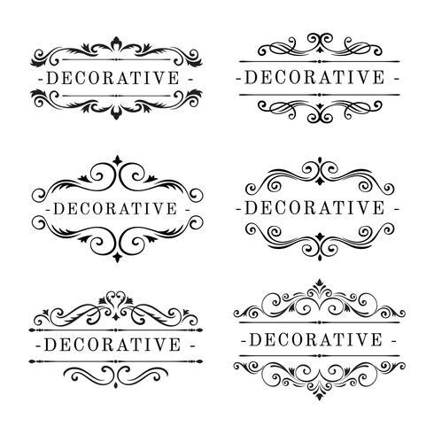 Dekorative Ornamente Vektor