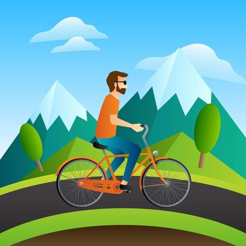 Fahrrad fahren vektor