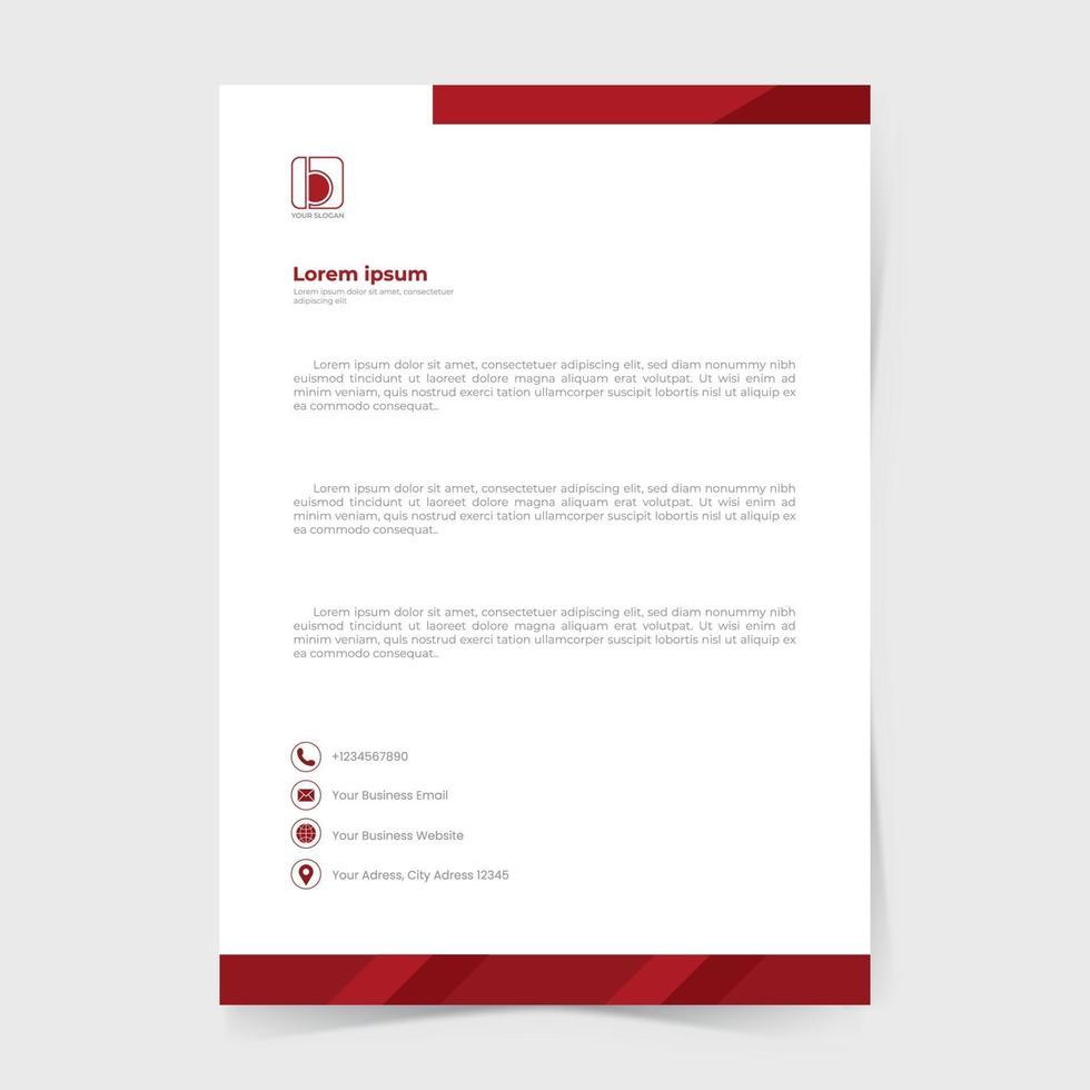 allgemeines Geschäftsbriefkopfschablonendesign. vektor