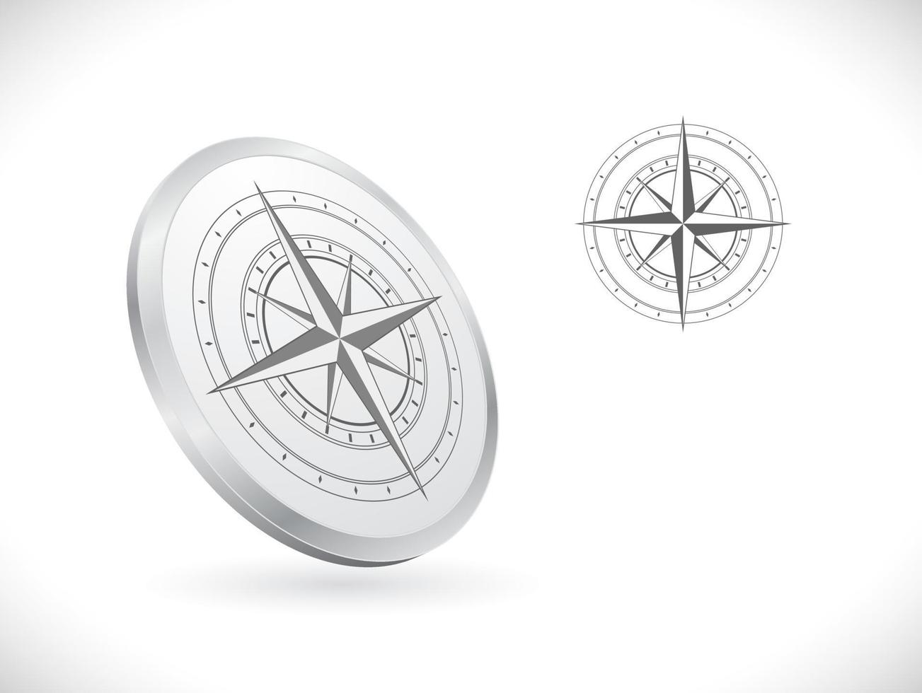Kompass 3d Vektor