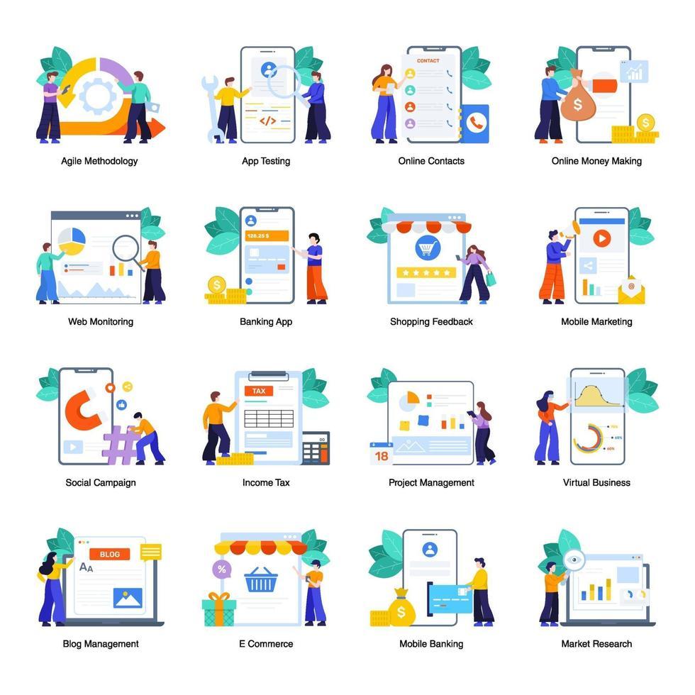 online-verksamhet och bankverksamhet vektor