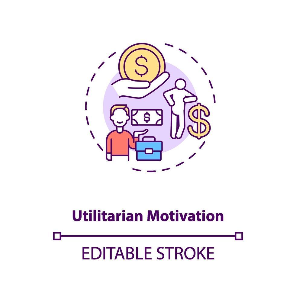 Symbol für das Konzept der utilitaristischen Motivation vektor