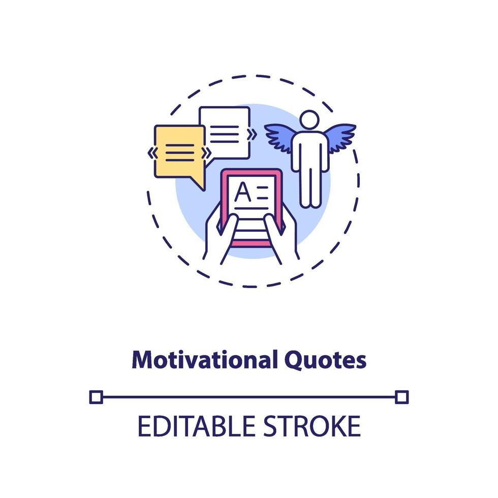 Motivationszitate Konzeptsymbol vektor