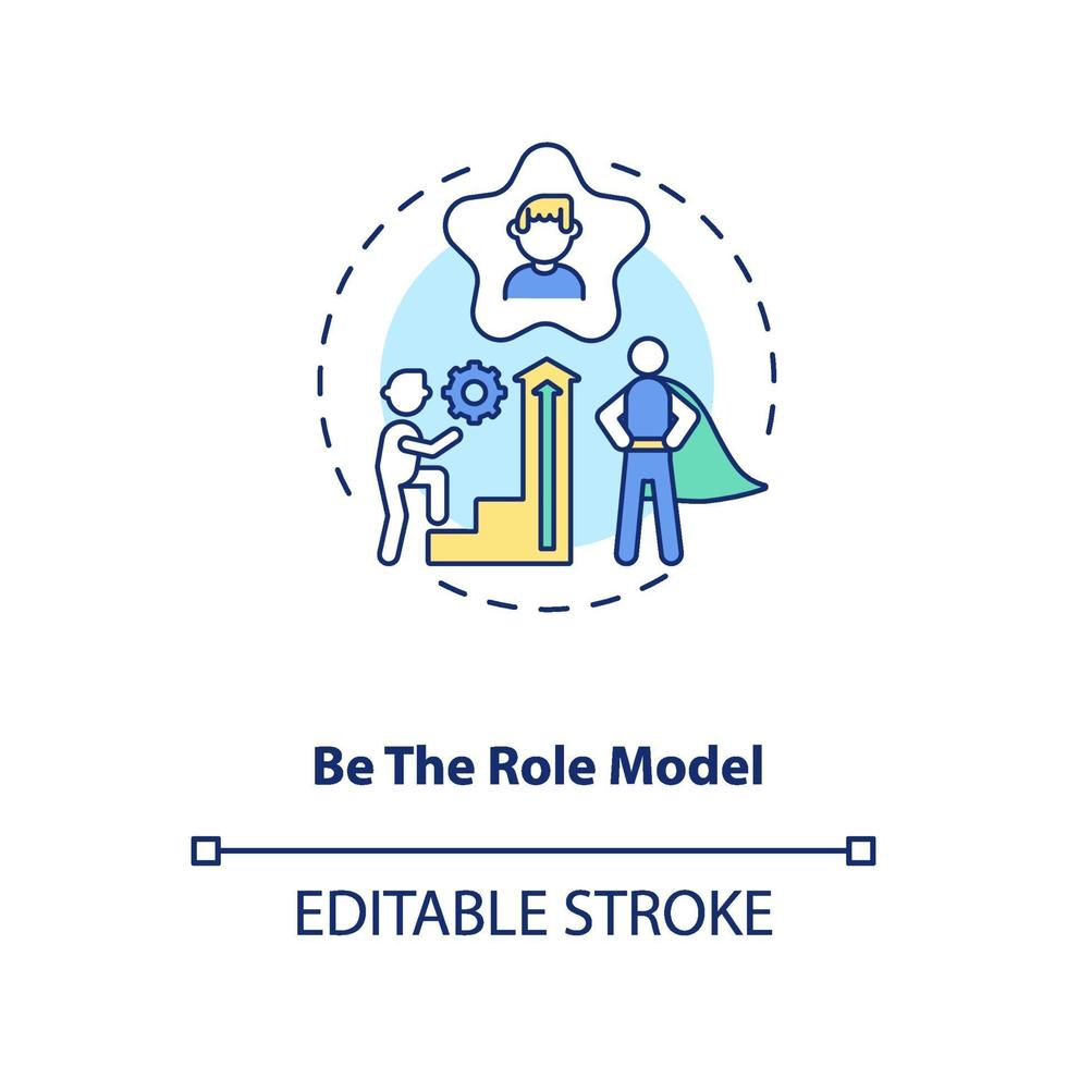 Vorbild-Konzept-Symbol sein vektor