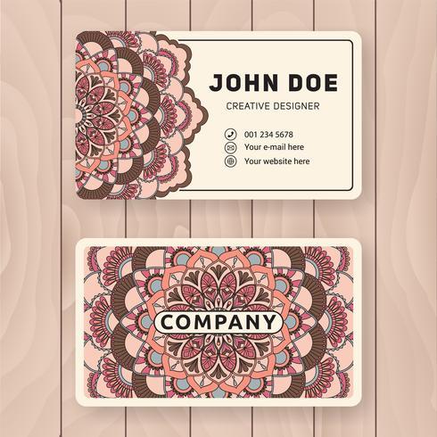 Kreative nützliche Visitenkarte Design. Vintage farbige Manda vektor