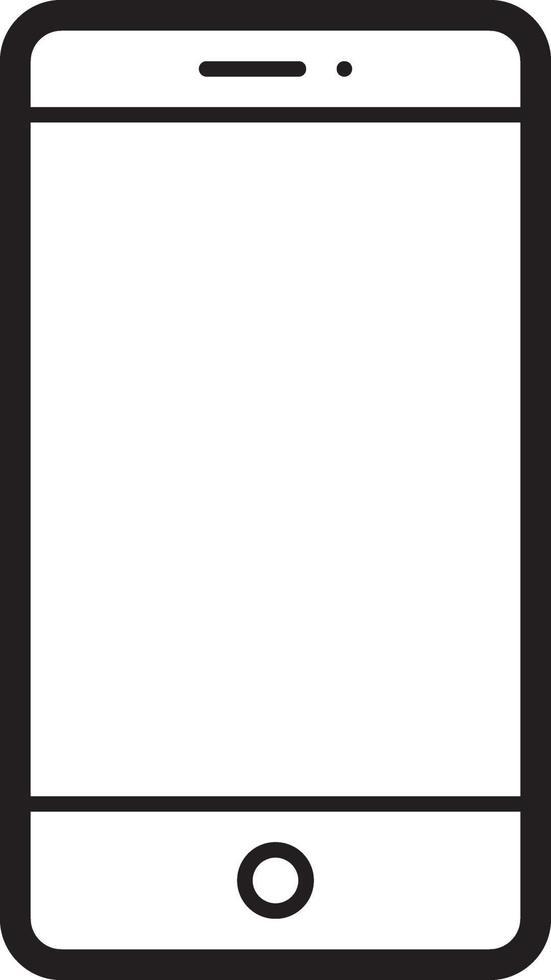 linje ikon för mobil vektor