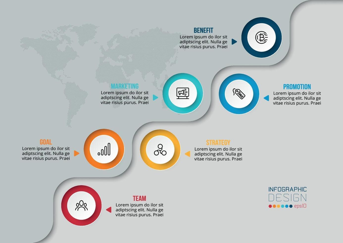 Business- oder Marketing-Infografik-Vorlage. vektor