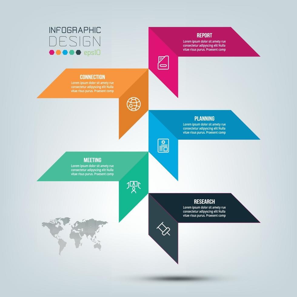 mall för modern design för infographics, banner, etiketter. vektor
