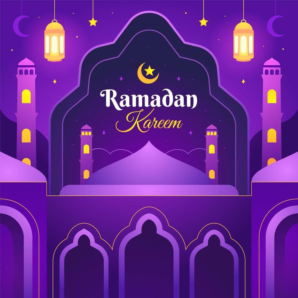 lila ramadan kareem design vektor