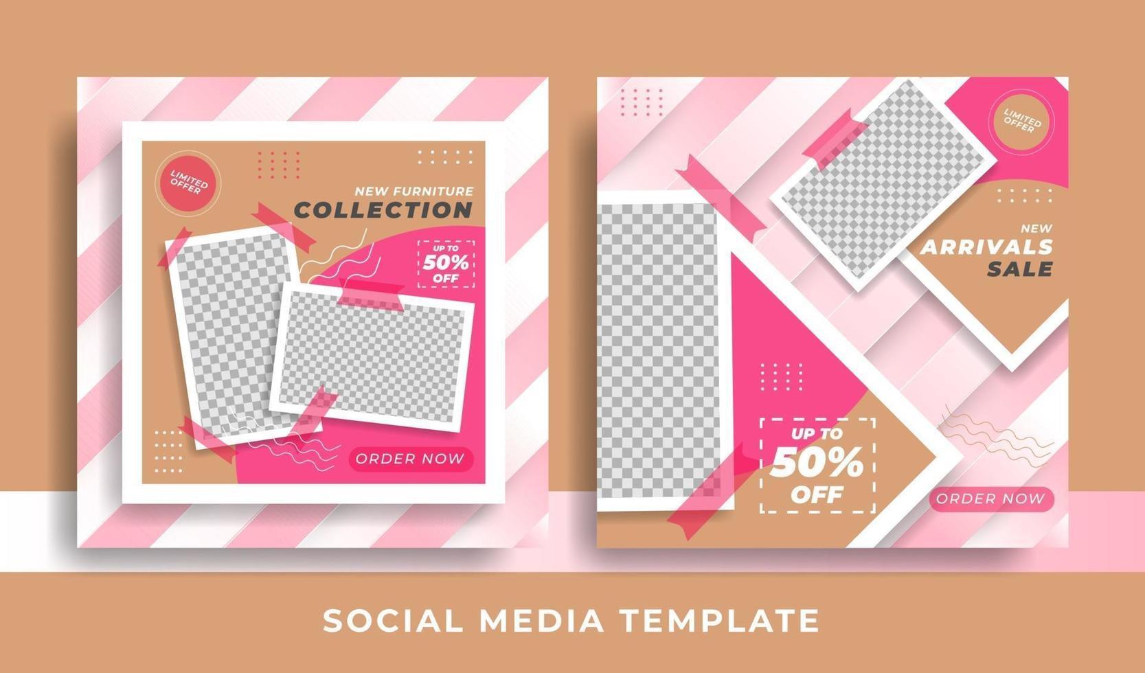 flygblad eller möbeltema för sociala medier vektor