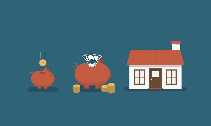Einsparung für Haus vektor