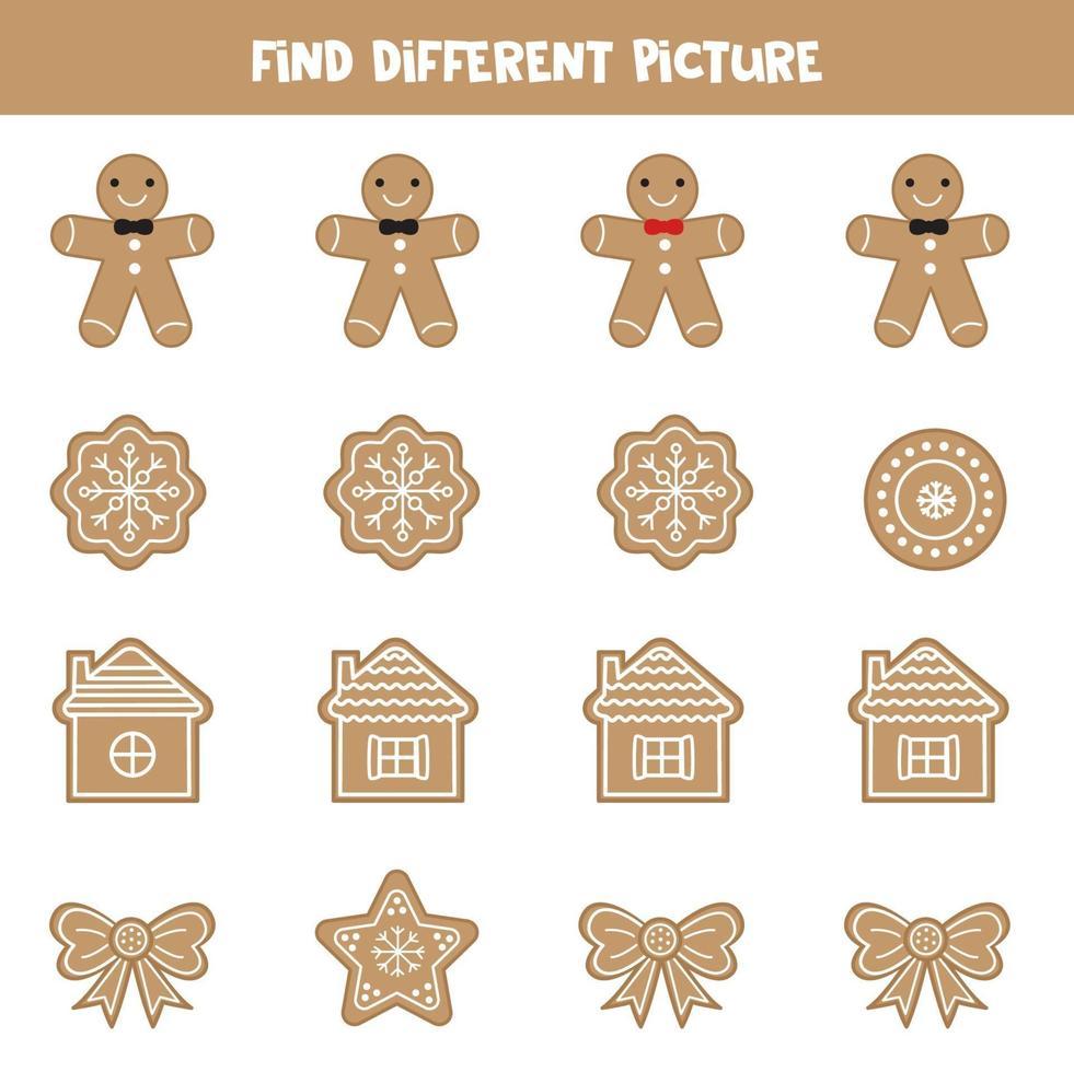 hitta julkaka som skiljer sig från andra. vektor