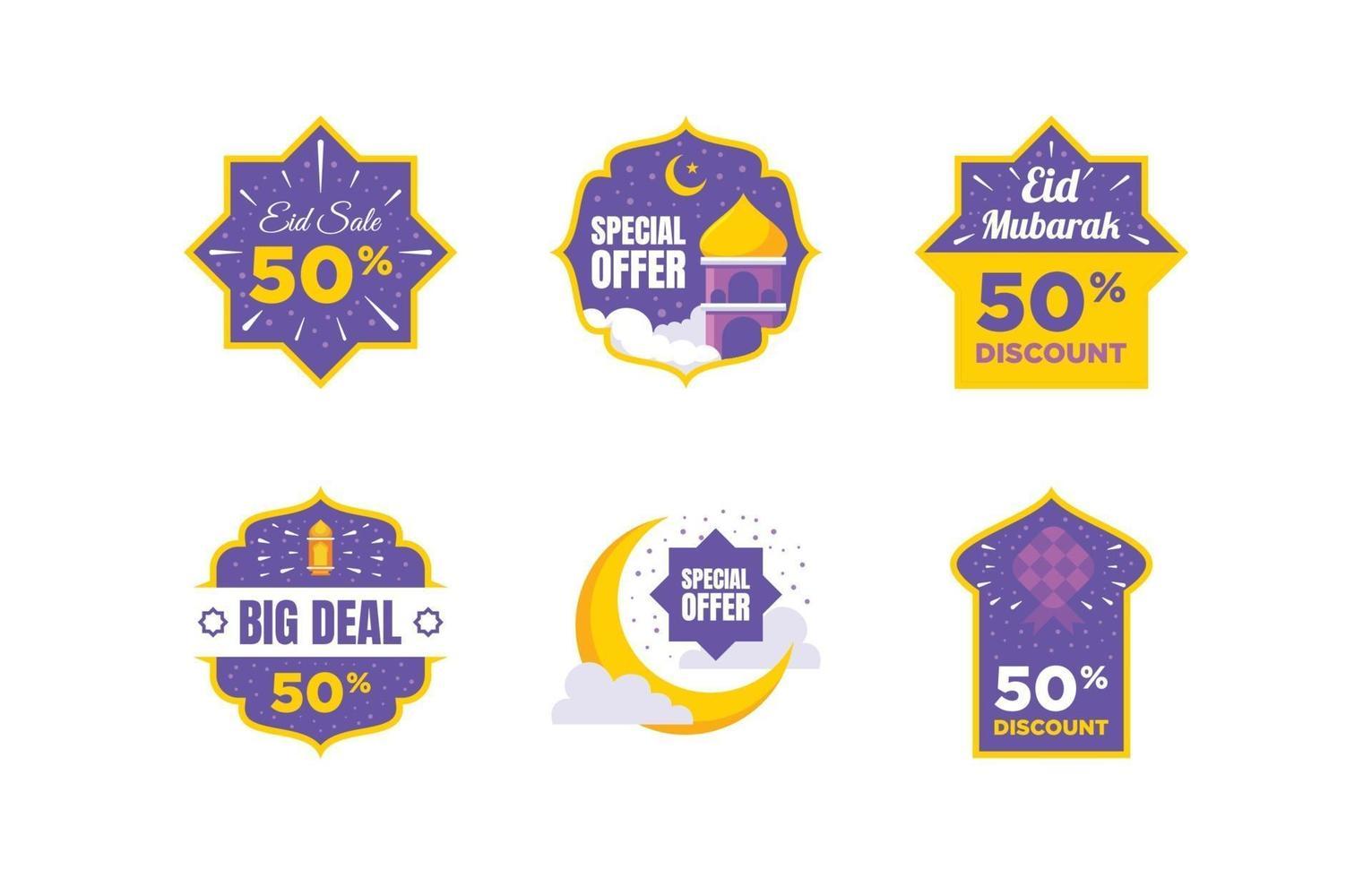 eid Marketing Tools Label vektor