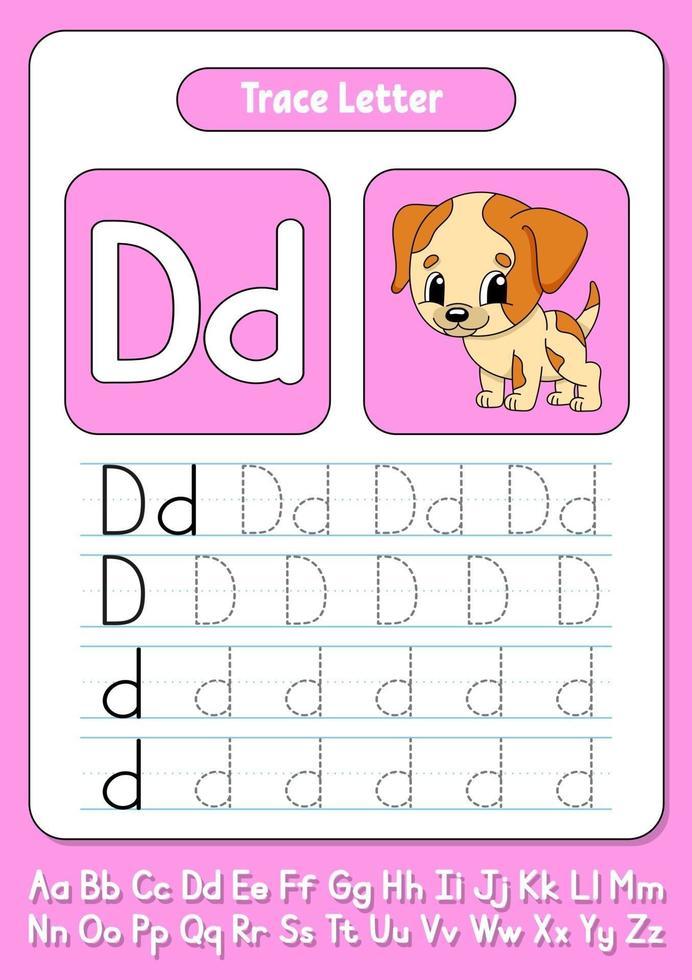 skriva bokstäver d vektor