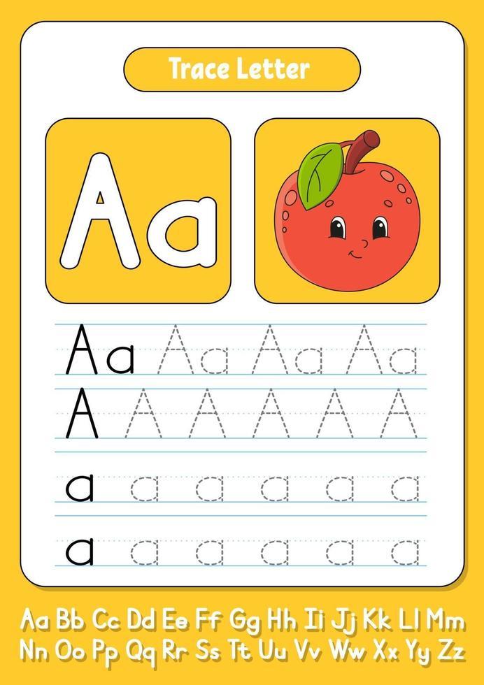 skriva bokstäver a vektor