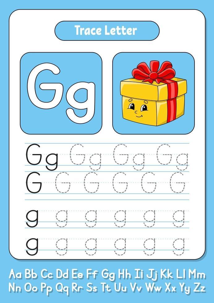 skriva bokstäver g vektor