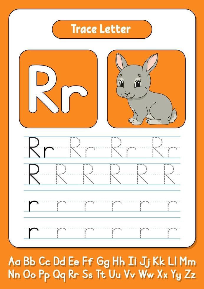 skriva bokstäver r vektor