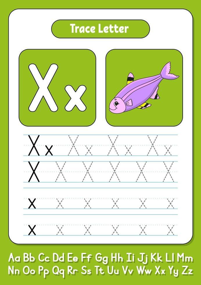 skriva bokstäver x vektor