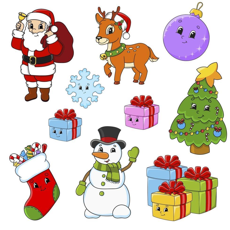 klistermärke för jul vektor