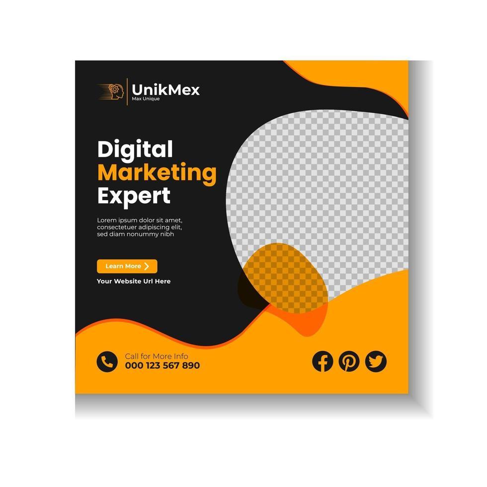 företags sociala medier post designmall vektor