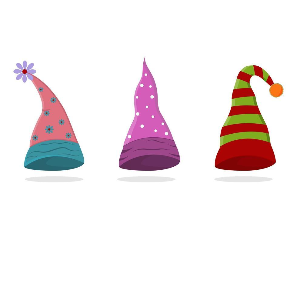 uppsättning gnome hattar vektor