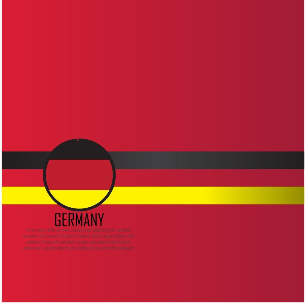 deutschland flagge vektorillustration vektor