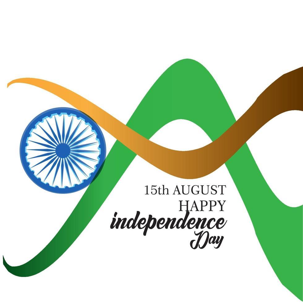 glad Indien självständighetsdagen vektor mall design illustration