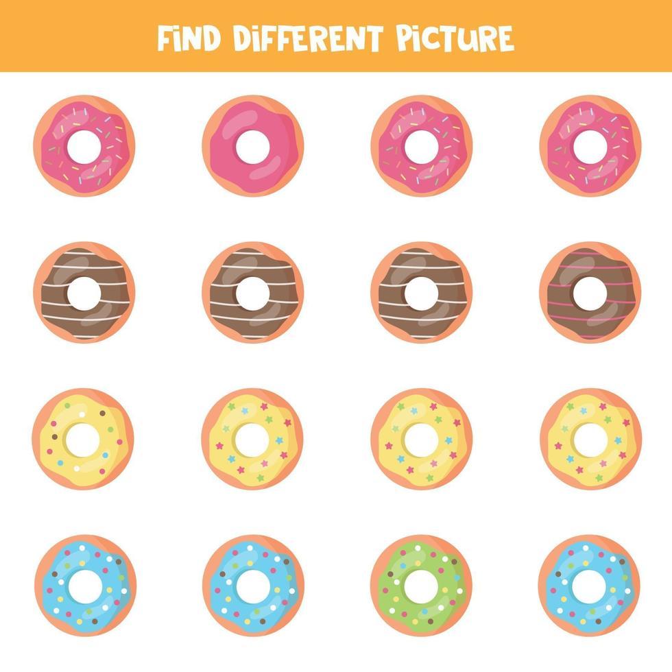 hitta en annan bild av munken. pedagogiskt logiskt spel för barn. vektor