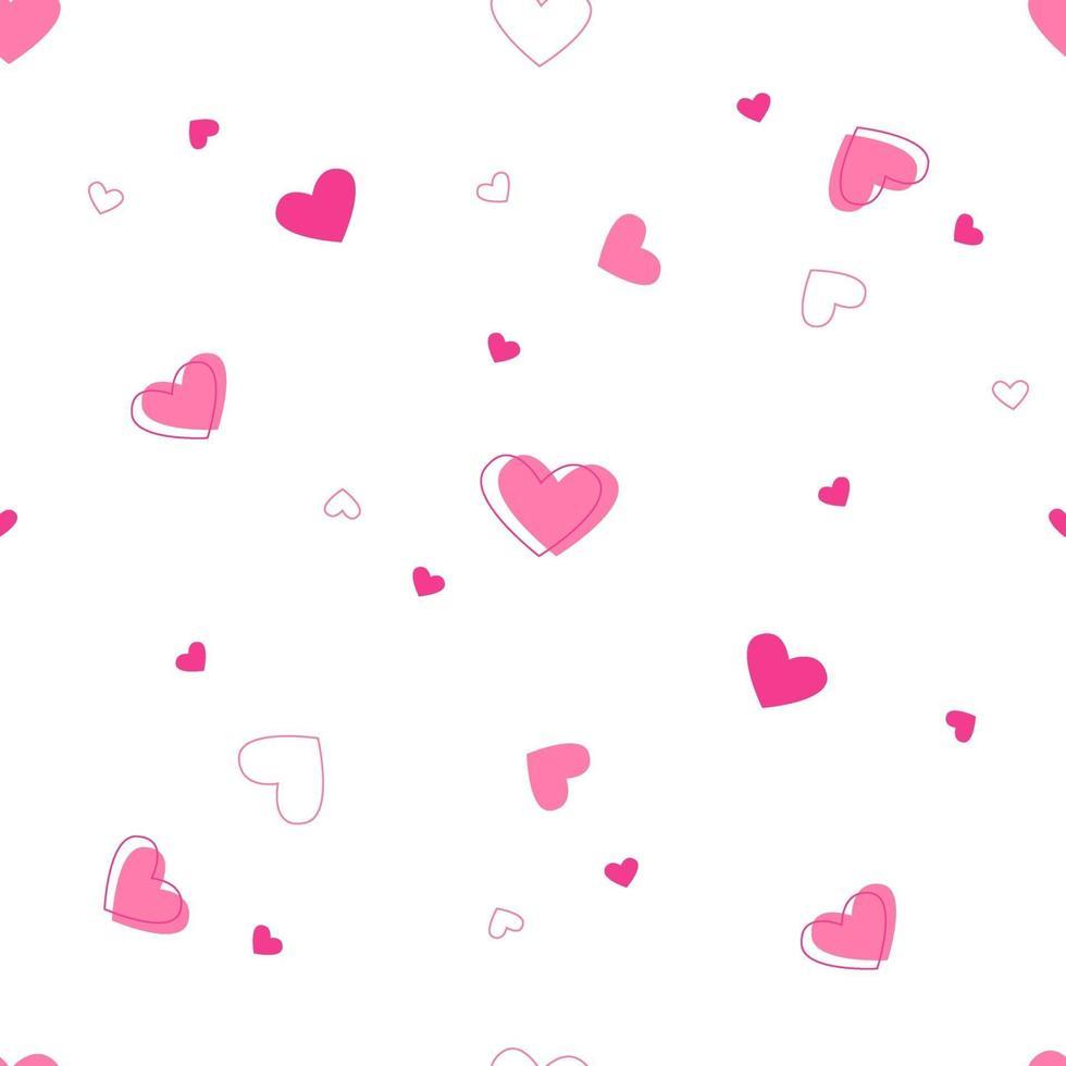 vackert hjärta sömlöst mönster vektor