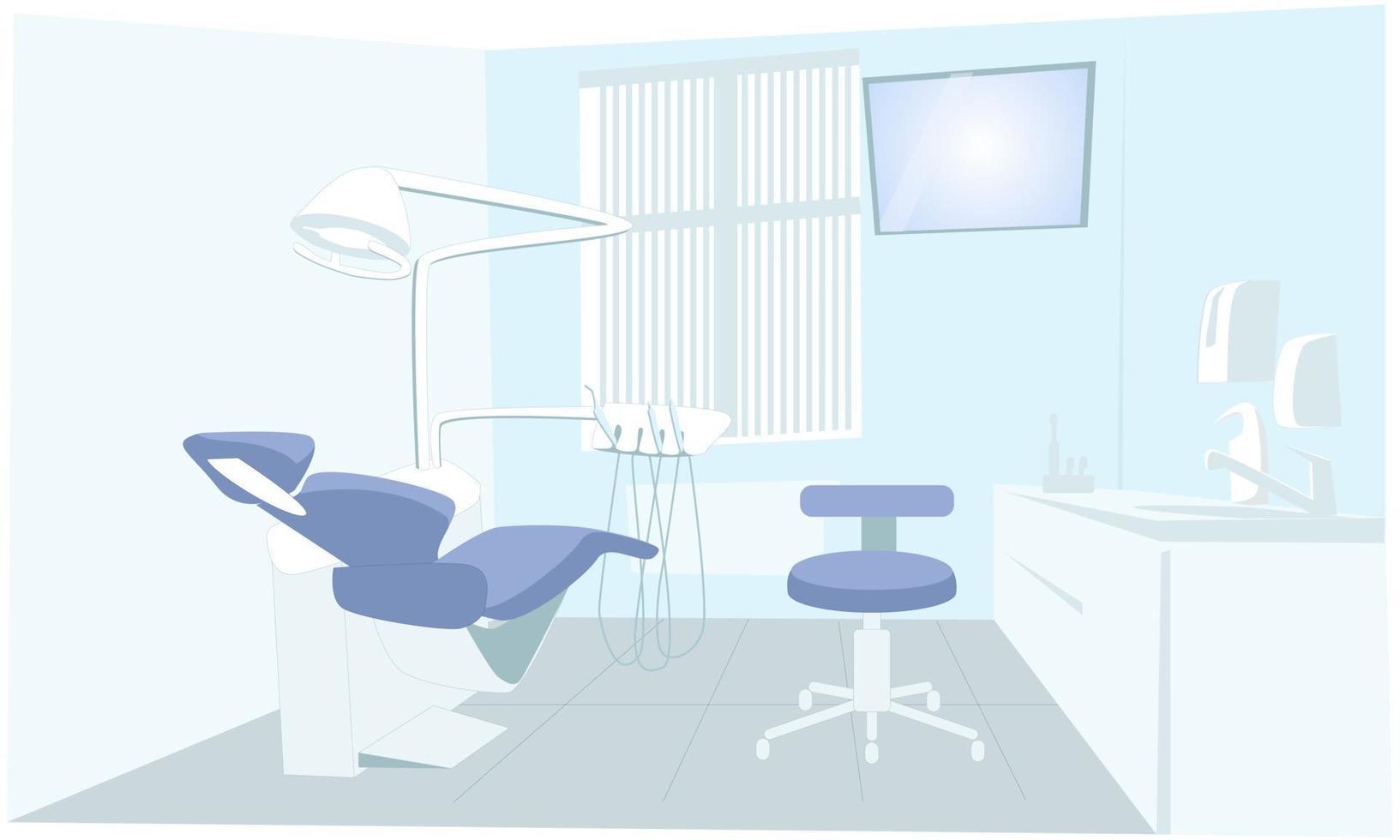 illustration av det inre av ett tandvårdskontor vektor