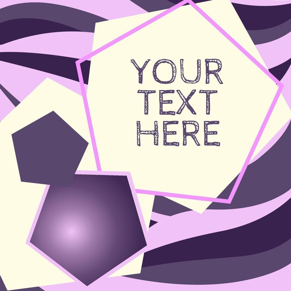 grafisk vågbakgrund i purpur vektor