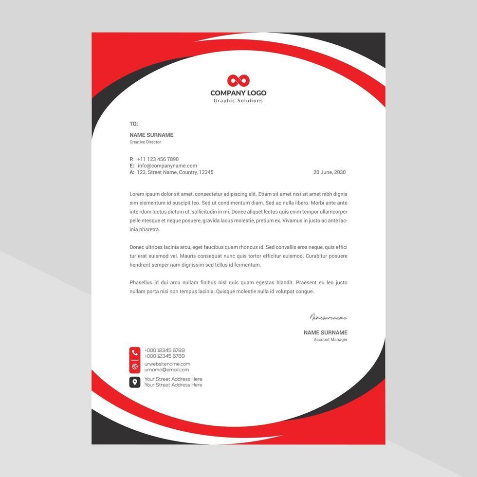 modernt företags brevpapper fri vektor